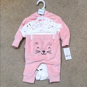NWT Carters 3 month pink jumpsuit